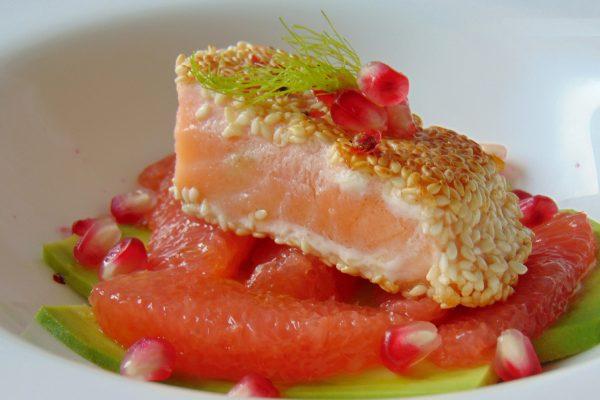 salmone sesamo