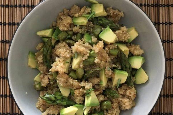 quinoa e asparagi